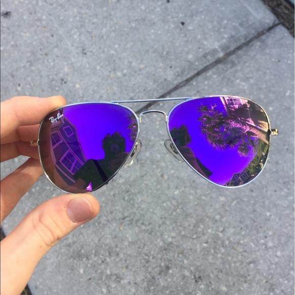 ea663cc24b Ray-Ban Purple Lens Silver Frame Aviators. M 5ad5156e3800c578e020e36a. Other  Accessories ...